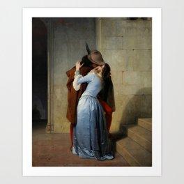 The Kiss (Il Bacio) - Francesco Hayez 1859 Art Print