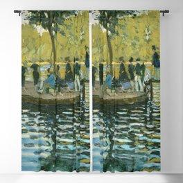 Claude Monet - La Grenouillère Blackout Curtain