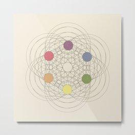Max Becke's trichromatic solid (remake, vintage version) Metal Print