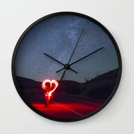 love and stars and texas Wall Clock