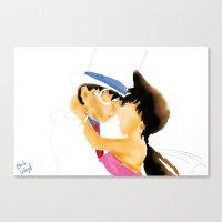 conan Canvas Prints featuring Detective Conan-KID&RAN by Black Wing