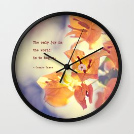 Begin with Joy Wall Clock