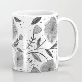 Spring flowers - black and white Coffee Mug