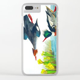Red-breasted Merganser Bird Clear iPhone Case