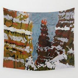 Colorado Snow Cliffs Wall Tapestry