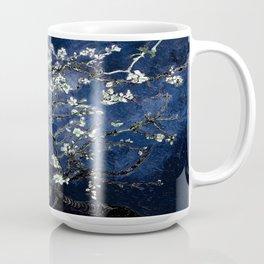 Vincent Van Gogh Almond Blossoms Dark Blue Coffee Mug
