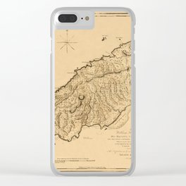 Map Of Tobago 1776 Clear iPhone Case