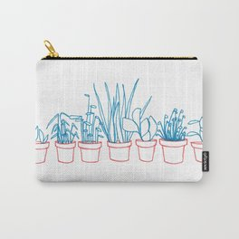 Teal Plants in Red Pots Carry-All Pouch