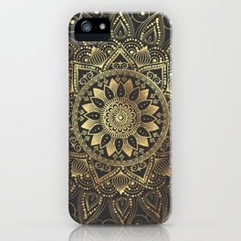 Elegant gold mandala artwork iPhone Case