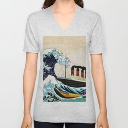 BIG SHIP big wave Unisex V-Neck
