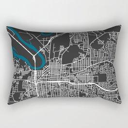 Montgomery city map black colour Rectangular Pillow