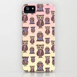 Owl pattern iPhone Case