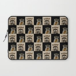 Guenon Racoon Pattern Laptop Sleeve