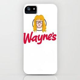 WAYNE'S SINGLE #2 iPhone Case