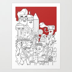 Citylife Art Print