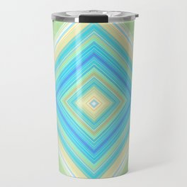 Diamond Pattern Green teal Travel Mug