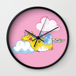 Happy Little Unicorn Wall Clock