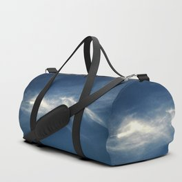 White mountains in the sky Duffle Bag