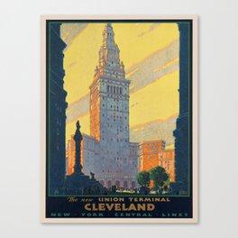 Vintage poster - Cleveland Canvas Print