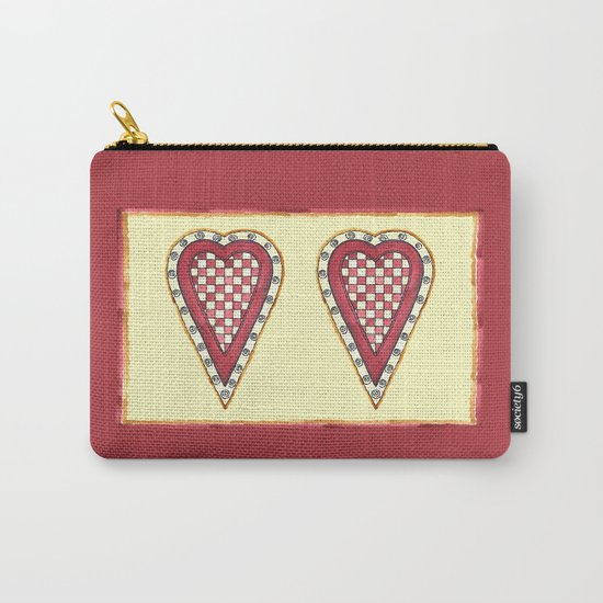 My Checkered Heart Carry-All Pouch