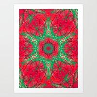 Reverse Poinsettia Art Print