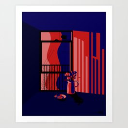 City Shadows Art Print