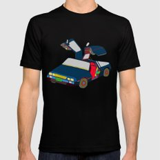 Cool Boys Like Flying Cars Mens Fitted Tee Black MEDIUM