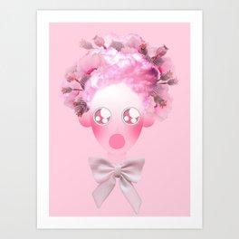 Bobble Head/Sweet Pink Opium Art Print