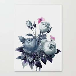 Roses and Butterflies Canvas Print