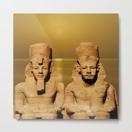 Ramesses and Nefertari Metal Print