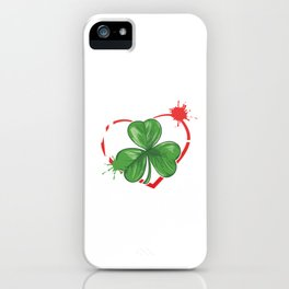 Ireland Celtic Gingers St Patrick Red Hair Beer Fest Clover Irish Heartbeat Gift iPhone Case