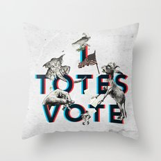 I Totes Vote Throw Pillow