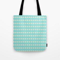 Circular Cyan Pattern Tote Bag