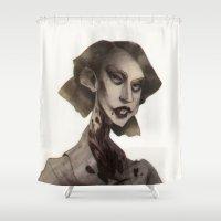 ahs Shower Curtains featuring T.C. by MYLÈNE BRAGINA