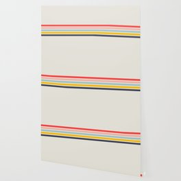 Naomori - Classic Minimal Retro Stripes Wallpaper
