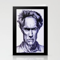 clint eastwood Stationery Cards featuring Clint Eastwood by Bronsolo Illustration
