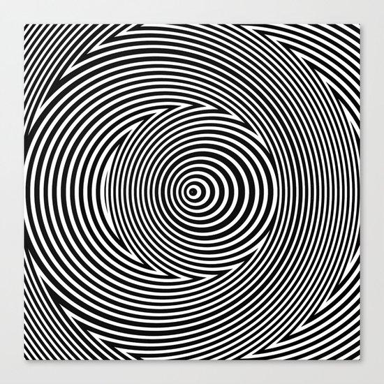 Black and White Dizzy Canvas Print