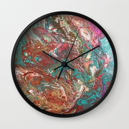 Copper and Turquoise Wall Clock