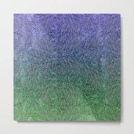 Nightfall Forest Glitter Gradient Metal Print