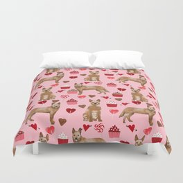 Australian Cattle Dog red heeler valentines day cupcakes hearts love dog breed gifts Duvet Cover