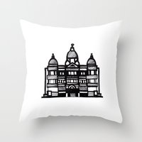 building Throw Pillows featuring Building  by Shannon Hansen