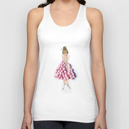 Ballerina in pink dress Unisex Tank Top