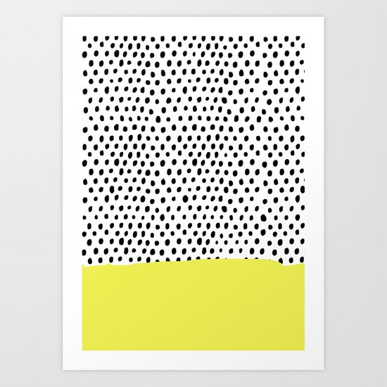 Polka dot rain dip Art Print