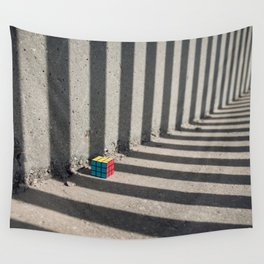 Rubik shading stripes Wall Tapestry
