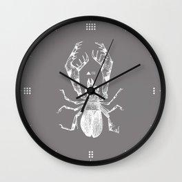 INSECT GREY Wall Clock