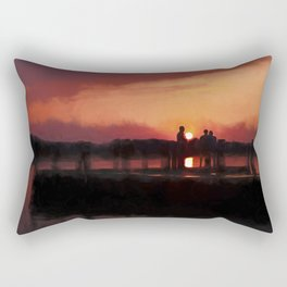 Watching the Sunset Rectangular Pillow