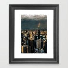 Manhattan - great sky Framed Art Print