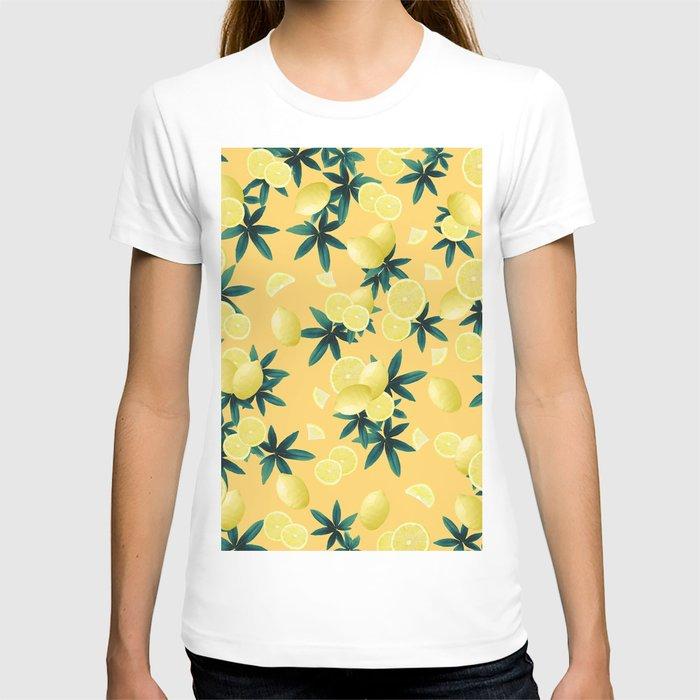 Lemon Twist Vibes #3 #tropical #fruit #decor #art #society6 T-shirt