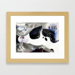 Last kiss Framed Art Print
