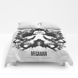 Megaman Geek Ink Blot Test Comforters